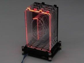 Acrylic RGB Retro Nixie Digit; Acrylic laser cut, WS2812 Strip