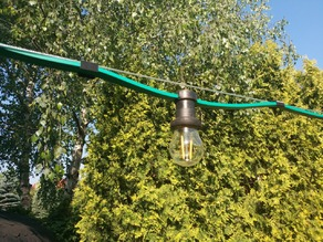 Garden party light clip to steel wire