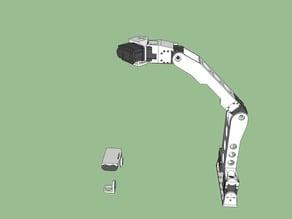 Open Academic Robot Kit: 5 Degree of Freedom robot arm using Dynamixel AX-12A servos