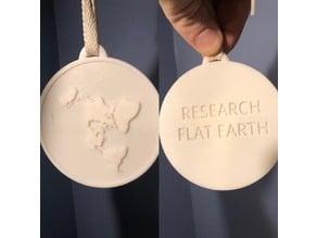 Flat Earth Medallion