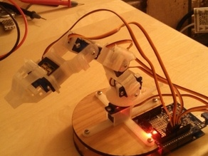Kinect Controlled Arm Robot