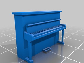 Generic upright Piano in HO scale