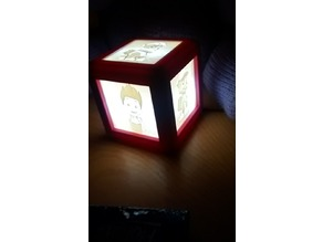 Lithophane Lamp with hidden magnets