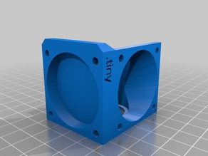 Remix E3D v5 40mm Fan duct with Layer Fan .tiny