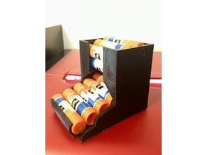Compact Desktop Glue Stick Holder