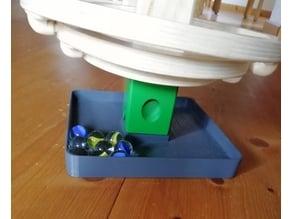 Baseplate collecting marbles for Hape Quadrilla Marble Runs / Auffangbehälter für Murmeln für Hape Murmelbahn