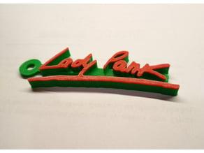 Lady Pank Logo Keychain