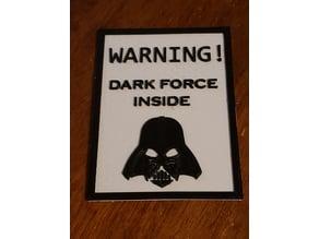 Darth Vader Warning Sign