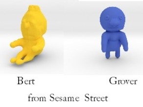 ernie, bert and grover from sesame street