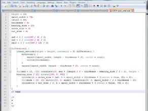 UPDATED OpenSCAD/Notepad++ Language File Bluish on White background