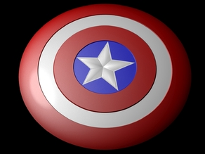 Captain america shield (Fully detailed)