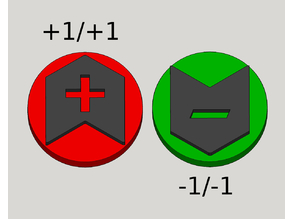 +1/+1 and -1/-1 Counters Magic: The Gathering Chips Plus One Negative One