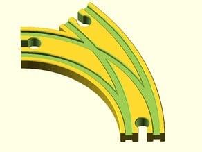 Toy Wood Train Track / Spielzeug Holzeisenbahn Schienen / Weiche Kurve / BRIO Thomas IKEA eBay kompatibel