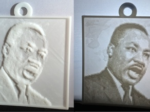 Martin Luther King, Jr. Lithopane