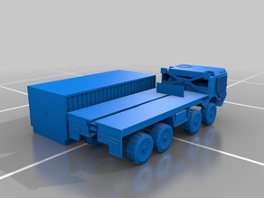 mann army truck with container