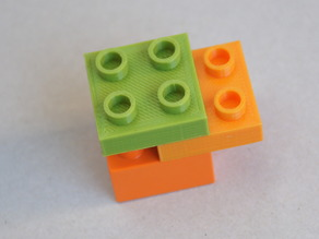 LEGO DUPLO - Compatible Brick 2x2 - 1/2 height