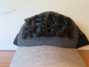 No-Sew 3d Printed Graphic Hat