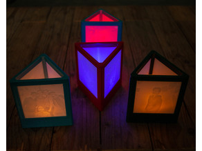 triangular lithophane lamp