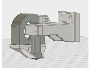 Bowden hotend mount for Openbuild's plates