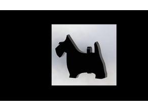 Scottie Dog Cufflink