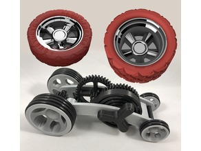 Wheels for Dual Mode Spring Motor Rolling Chassis