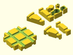 tracklib Extended: OpenSCAD library for rendering toy train parts .. added some new features ..
