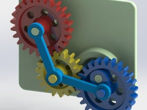 Desk Toy - Variable Speed Gears