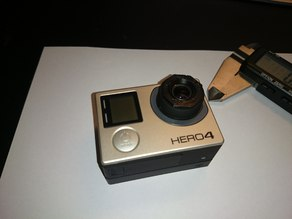 GoPro with 5.4mm lens ring