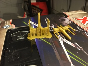 X-Wing like Fighter suitable for use in miniatures gaming