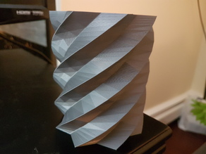 Faceted Spiral Pen Cup