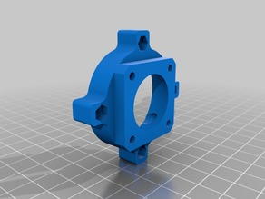 E3D V6 clone - fan adapter with hex nuts