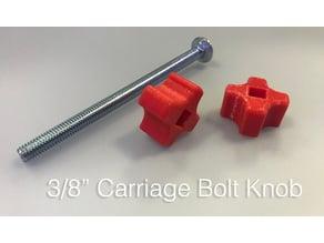 """3/8"""" Carriage Bolt Knob"""