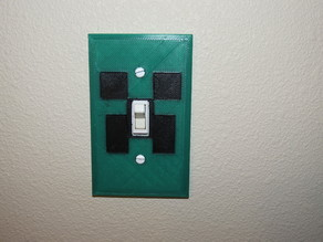 Minecraft Creeper Light Switch Cover