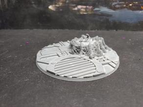 Remixed 90mm base for Redemptor Dreadnought