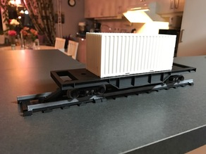 Train freight car for OS-Railway - fully 3D-printable railway system!