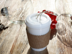 Eco-Friendly Coffee Cup Christmas Ornament