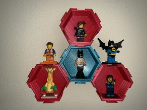 Modular LEGO Minifigure Hexagonal Dovetail display
