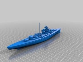 The Battleship Bismarck 1:1000