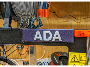 multicolor prusa style sign generator (nameplates for humans or printers)