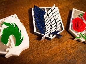 Attack on Titan Survey Corps / Garrison / Military Police Brigade Magnet Set