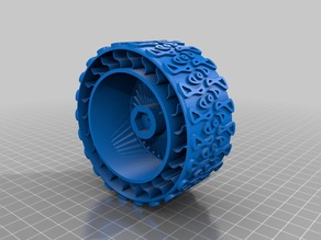 RC Car wheel with Michelin-style tyre for 12mm hub