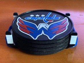 Washington Capitals Coaster Set with Ice Rink Holder (MMU)