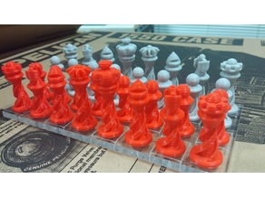 Spiral Chess Set - Enclosed Cross Sections