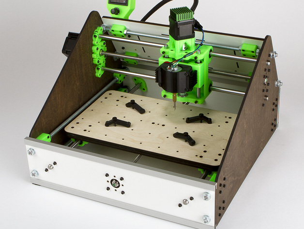 3d printed laser cut lil cnc mill acv2 by alexcphoto thingiverse