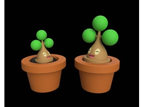 Bonsly with Flower Pot