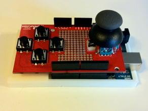Parametric Arduino Case with Shelf for Sparkfun Joystick Shield
