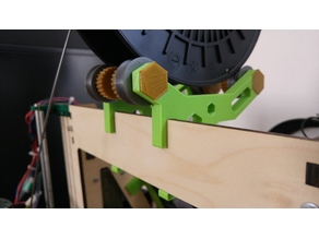 Extended Arms - Spool Holder for Prusa i3 MK2 - Hex Design - Toolless Mounting - Fast spool replacement