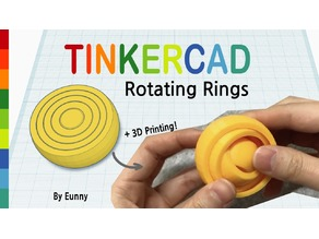 Rotating Rings with Tinkercad