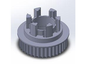Longboard ABEC 11 Flywheels - Flywheel Clones - MBS All Terrain Wheels - CNC 37T Single Piece Pulley for 9mm, 12mm, 15mm Belts