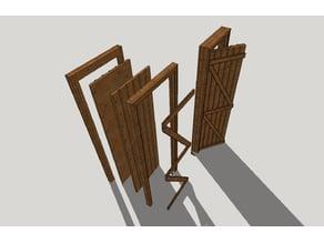Wooden door Z / Ahşap Z kapı-diorama